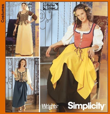 German sewing pattern Simplicity 7033 Costumes