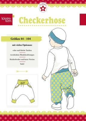 großer Abverkauf Outlet-Verkauf Shop für echte deutsches Schnittmuster farbenmix, klimperklein Checkerhose, Babyhose Gr.  44-104