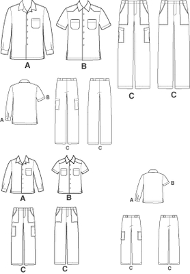German sewing pattern Simplicity 7160 Combi