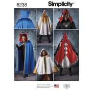 englisches Schnittmuster Simplicity 8238 Cape, Umhang,...