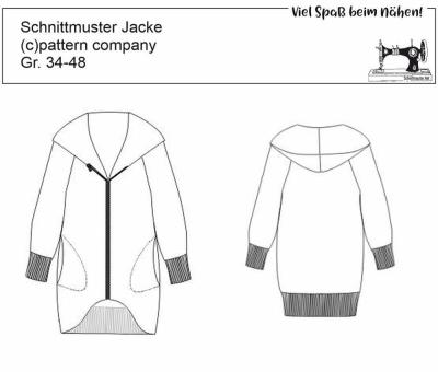 34-48 Schnittmuster pattern company 04879 Damenjacke Gr