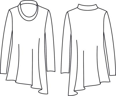 Schnittmuster zwischenmass 601010 T-Shirt bei Schnittmuster.Net ...