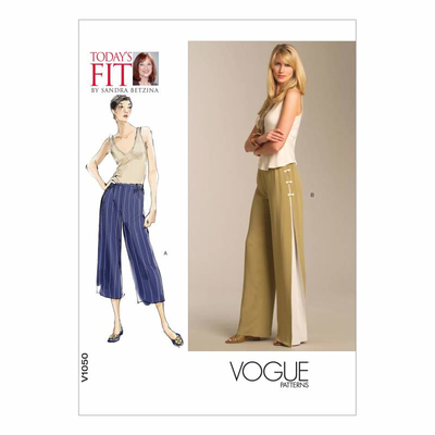 Sewing Pattern Vogue 1050 Pants