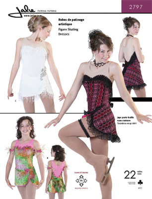 Sewing pattern Jalie 2797 Skating Size 2-13 (92-155) and 4-14 (32-40)
