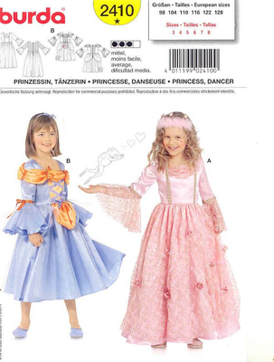 Sewing pattern Burda 2410 Carnival Size 98-128