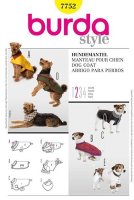 Sewing pattern Burda 7752 Dogscoat