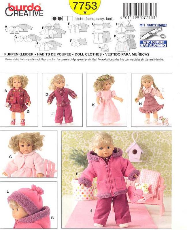 Für Puppen - Schnittmuster.Net Schnitte, Hefte, Stoffe, Kurzwaren
