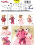 Sewing pattern Burda 7753 Dolldress