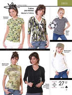 Sewing pattern Jalie 2805 Shirts Size 2-13 (92-155) and...