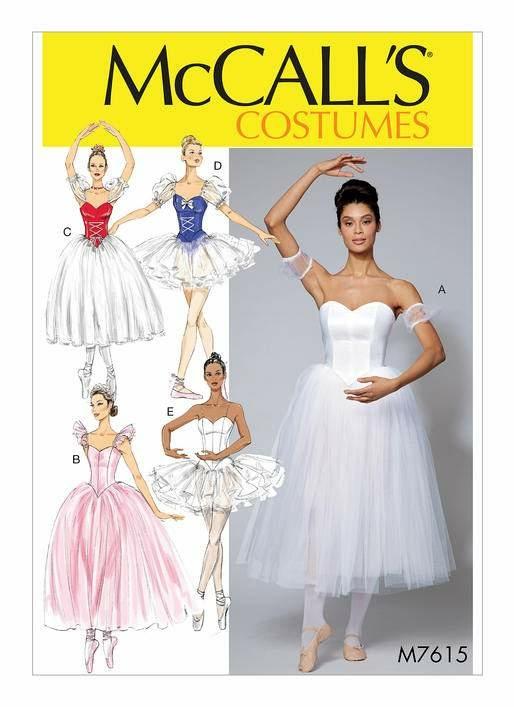 Schnittmuster McCalls 7615 Ballett Gr. 32-48, 11,50 € - Schnittm