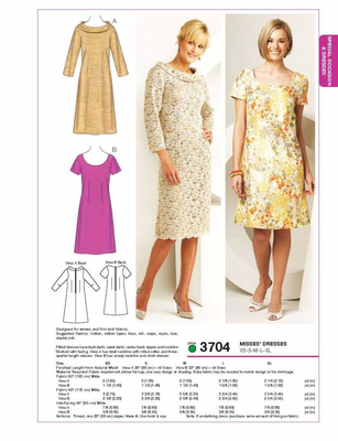 Sewing Pattern KwikSew Misses Dresses