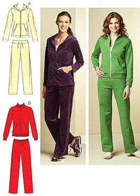 Sewing pattern KwikSew 3678 sports XS-S-M-L-XL