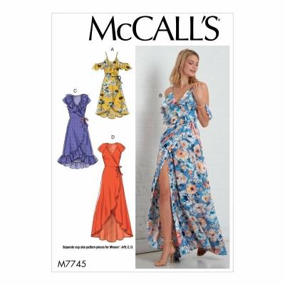 Schnittmuster McCalls 7745 sommerliches Wickelkleid - Schnittmuster ...