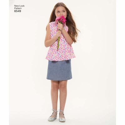 english paper sewing pattern NewLook 6549 teenager, girls clothes A 7 14 (7 14)