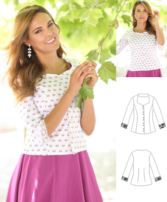 Schnittmuster pattern company 03882 Miederbluse - Schnittmuster.Net ...