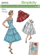Schnittmuster Simplicity G7013/8456 Vintage Petticoat...