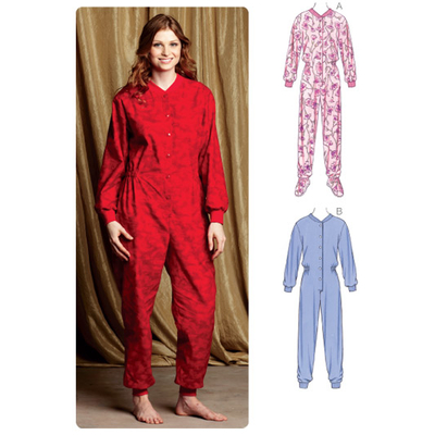 Schnittmuster KwikSew 3712 Schlafanzug, Overall XS-S-M-L-XL 4-22 (30-48)