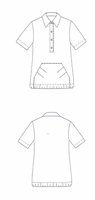 Schnittmuster pattern company 03-445 Shirtbluse mit Polokragen Gr. 34-48