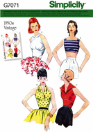 Schnittmuster Simplicity 7071/8645 schickes Vintage Top...