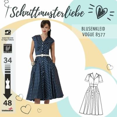 Schnittmuster Vogue 8577 Kleid bei Schnittmuster.Net - Schnittmuster ...