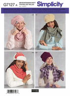 Schnittmuster Simplicity 7127/8812 Winteraccessoires...