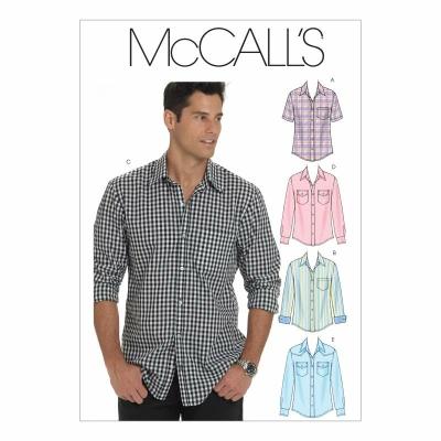 Schnittmuster McCalls 6044 Herrenhemd bei Schnittmuster.Net ...
