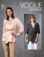 Schnittmuster Vogue 1680 Bluse Gr. 32-48