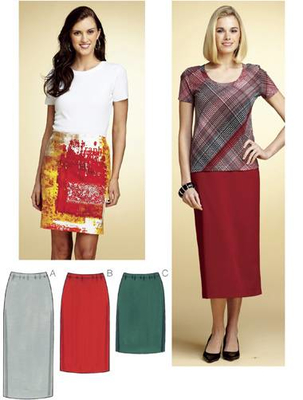 Sewing pattern KwikSew 3765 skirt XS-S-M-L-XL