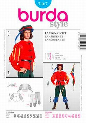 Sewing Pattern Burda 7467 carneval sizes 44-60 (34-50)