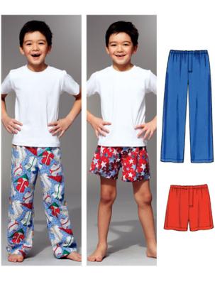 Schnittmuster KwikSew 3786 Kinder Pyjamahose XS-XL 4-14 (104-156 ...