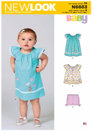 english paper sewing pattern NewLook 6663 sweet baby...