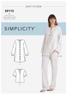 Schnittmuster Simplicity 9113 Tunika, Bluse und...