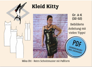 ebook Schnittmuster PDF Mika Oh Kitty Retro Cocktailkleid...