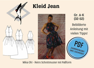 ebook Schnittmuster PDF Mika Oh schulterfreies Retrokleid...