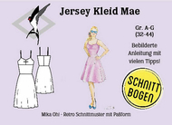Schnittmuster aus Papier Mika Oh Mae Jerseykleid,...