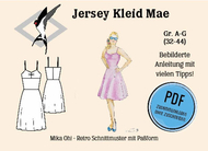 ebook Schnittmuster PDF Mika Oh Mae Jerseykleid,...