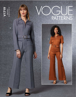 Schnittmuster Vogue 1719 trendy Damenoverall, Jumpsuit,...
