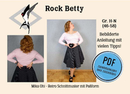 ebook Schnittmuster PDF Mika Oh Betty schwingender...