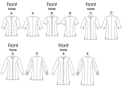 Sewing Pattern McCalls 6124 blouse
