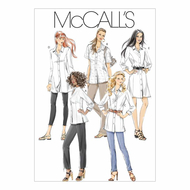 Schnittmuster McCalls 6124 Bluse Gr. 34-50