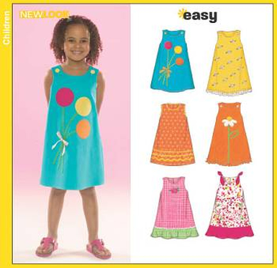 english paper sewing pattern NewLook 6504 dresses A 3 8 (DE 98 128)