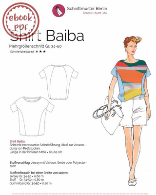 ebook Schnittmuster Berlin Shirt Baiba Gr. 34-50