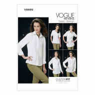 Schnittmuster Vogue 8689 Damenbluse Gr. 32-48