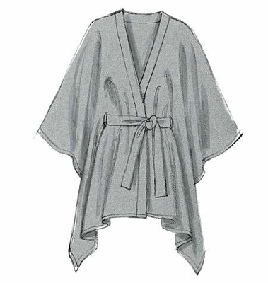 Schnittmuster aus Papier McCalls 6209 Poncho Gr.32-48