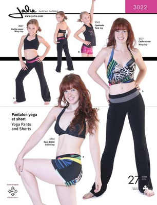 sewing pattern Jalie 3022 yogapants
