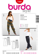 Sewing Pattern Burda 7400 pants size 34-60 (6-34)