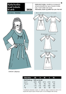 Sewing Pattern Onion 2026 Dress Size XS-XL