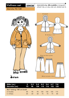 Sewing Pattern Onion 20038 Wellness Size 92-128