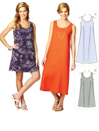 Sewing pattern KwikSew 3871 dress  XS-S-M-L-XL