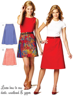 Sewing pattern KwikSew 3877 skirt XS-S-M-L-XL